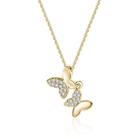Queen of the Jungle Gold Butterfly Necklace