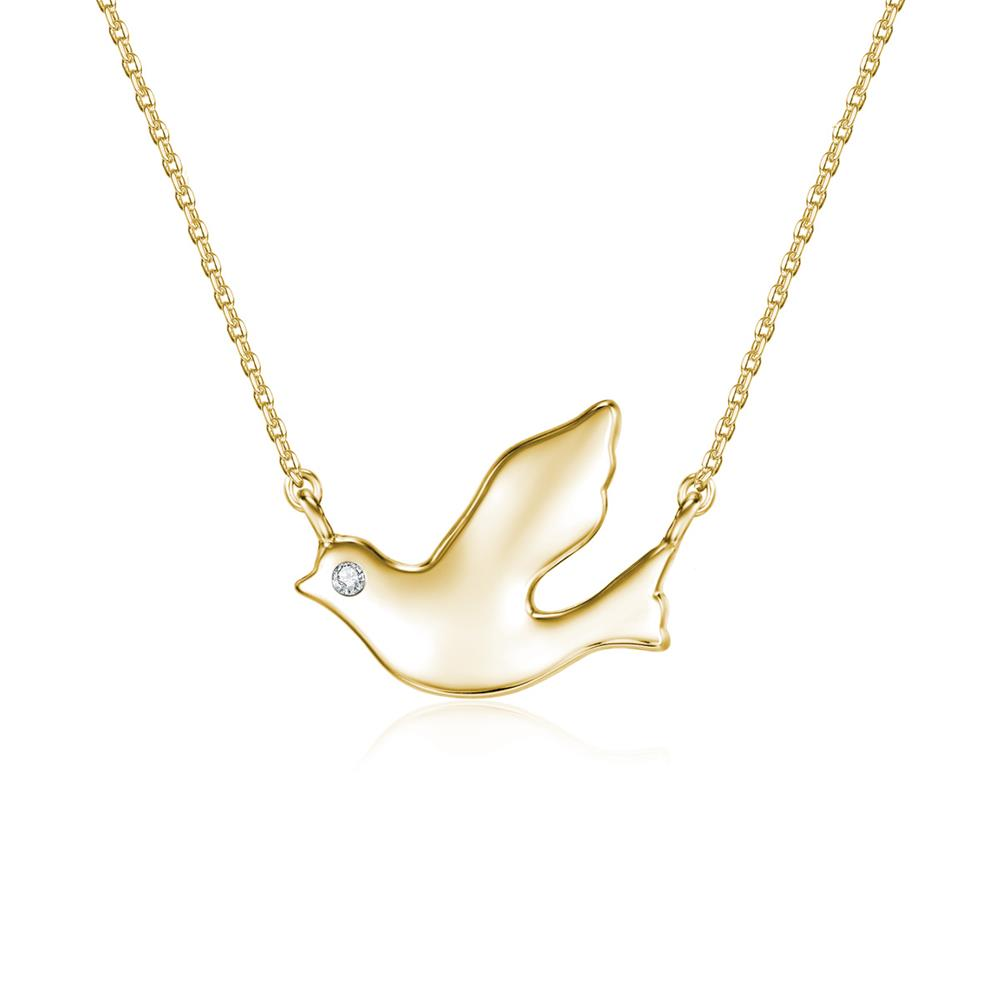 Away with the Clouds Gold Songbird Necklace