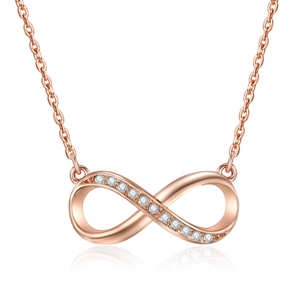 Rose Gold Infinitely Yours Necklace
