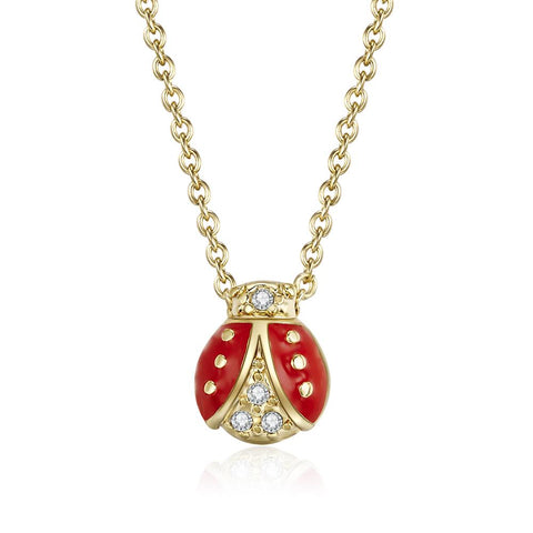 Tropical Delight Gold Ladybug Necklace