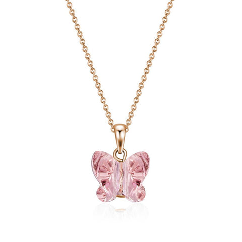 Over the Rainbow Rose Gold Flutter Necklace