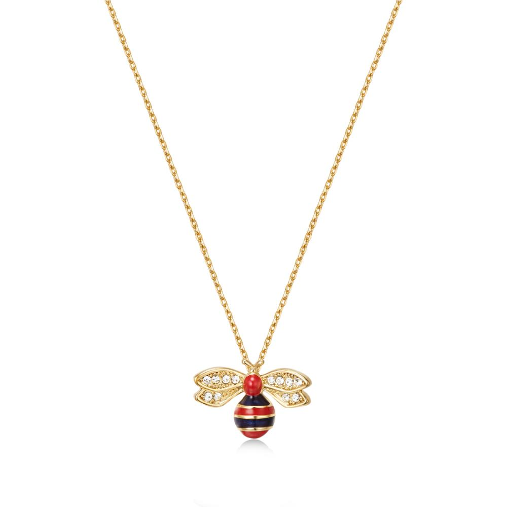 Golden Bumble Bee Necklace
