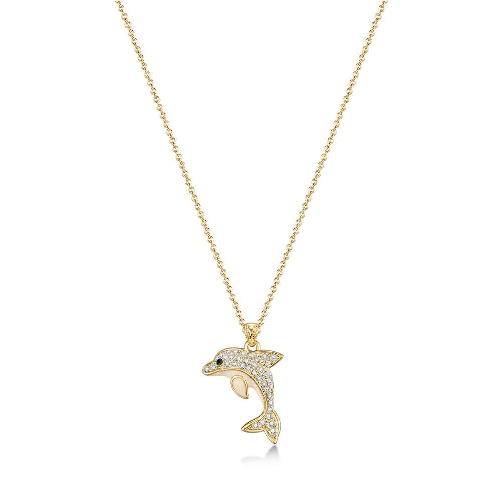 Golden Dolphin Necklace