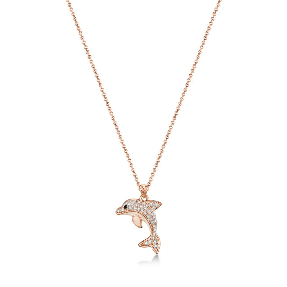 Rose Gold Dolphin Necklace