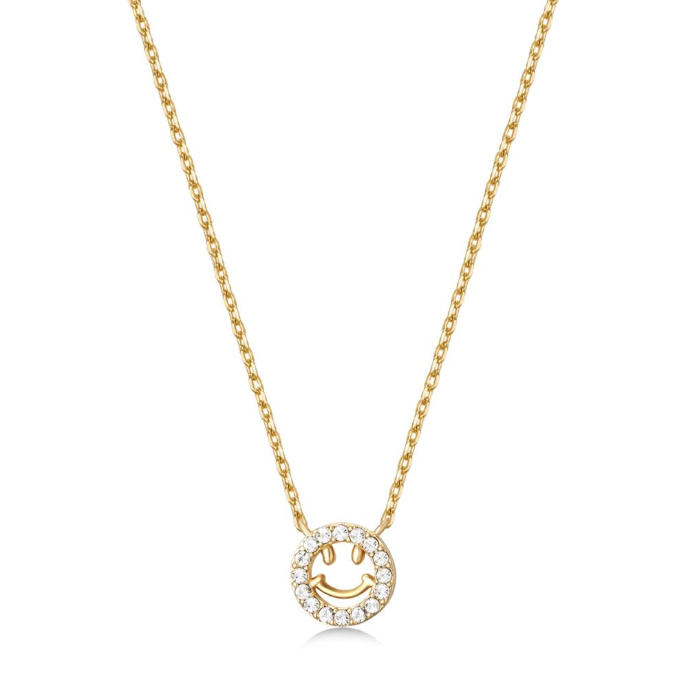 Golden Smiley Necklace