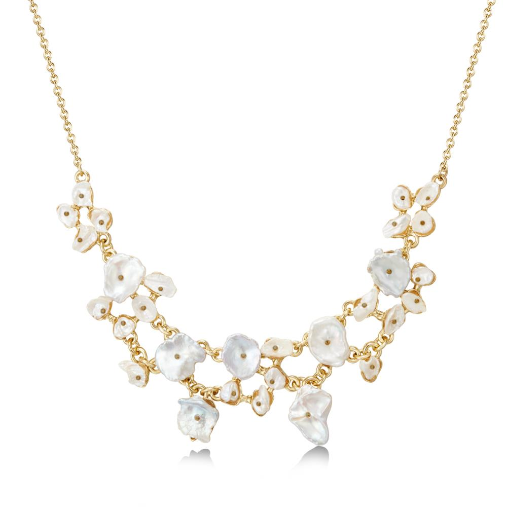 Golden Marissa Pearl Necklace