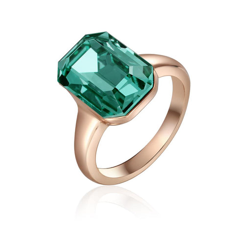Rose Gold Laverna Emerald Ring