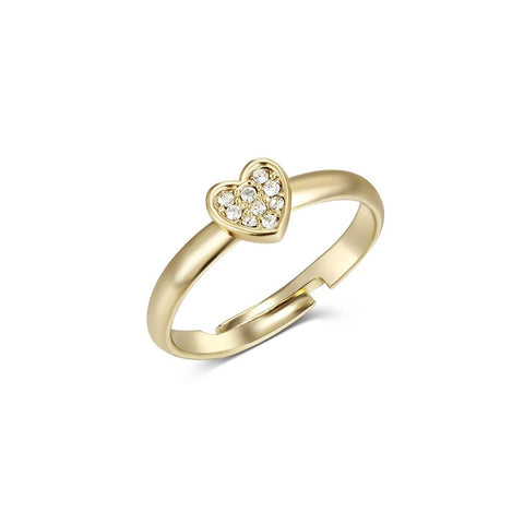 Over the Rainbow Gold Heart Beat Ring