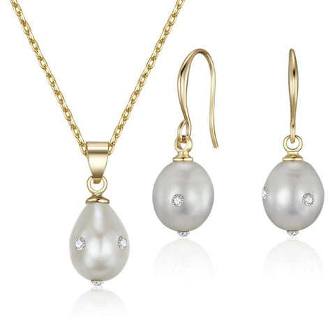 Golden Evelina Freshwater Pearl Set