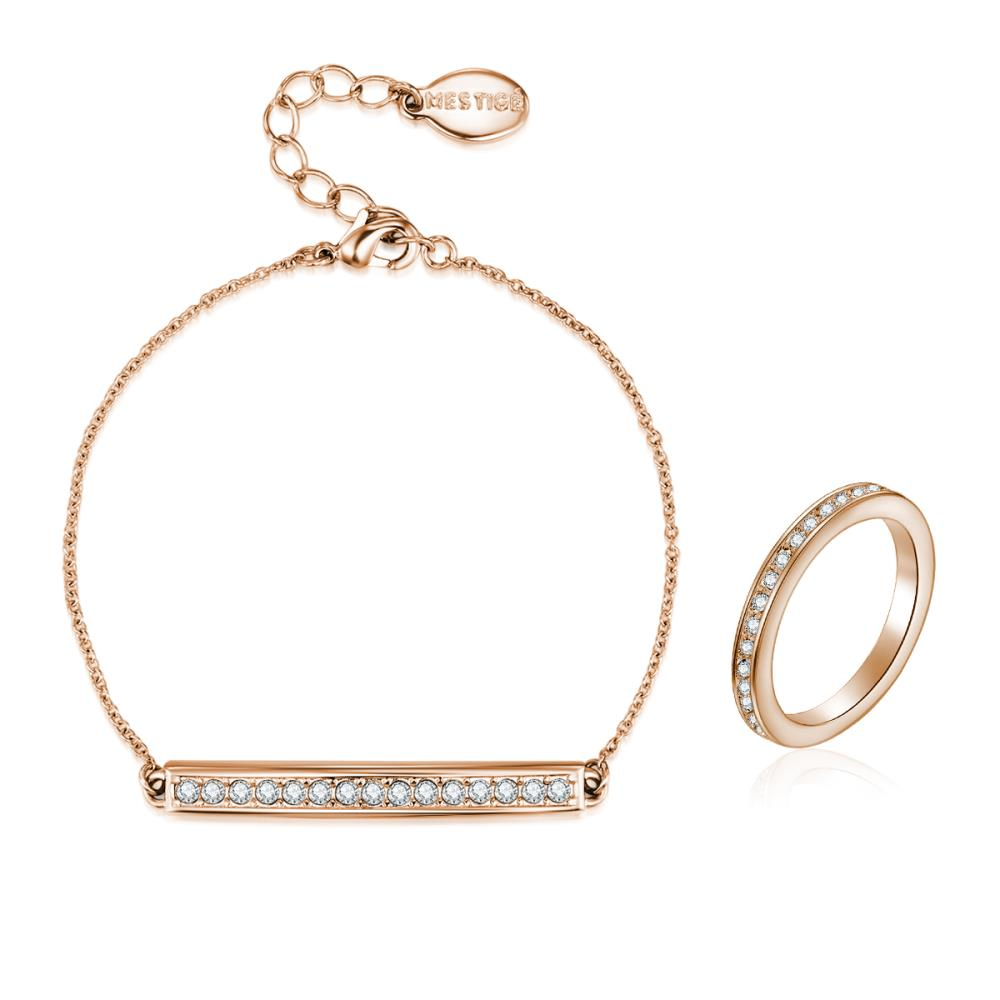Rose Gold Millie Set with Crystals from Swarovski®