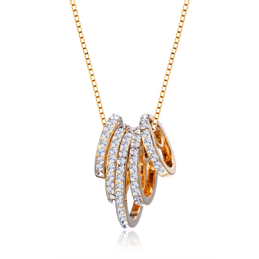 Aphrodite Crystal Necklace In Gold