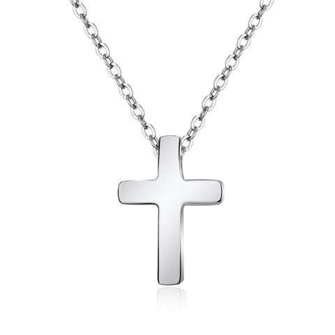 Fine Cross Silver Necklace