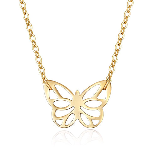 Gold Papillon Necklace