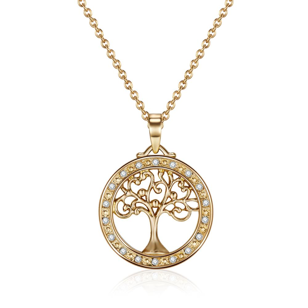 Divine Tree Of Life Necklace In Gold