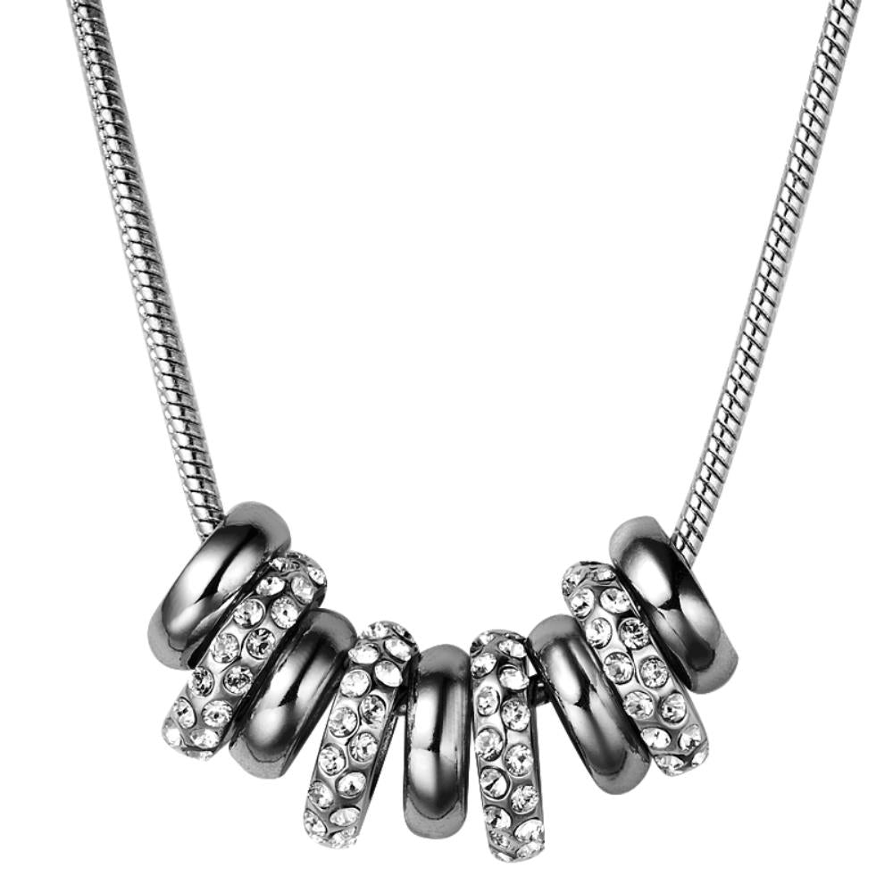 Empress Necklace In Gunmetal