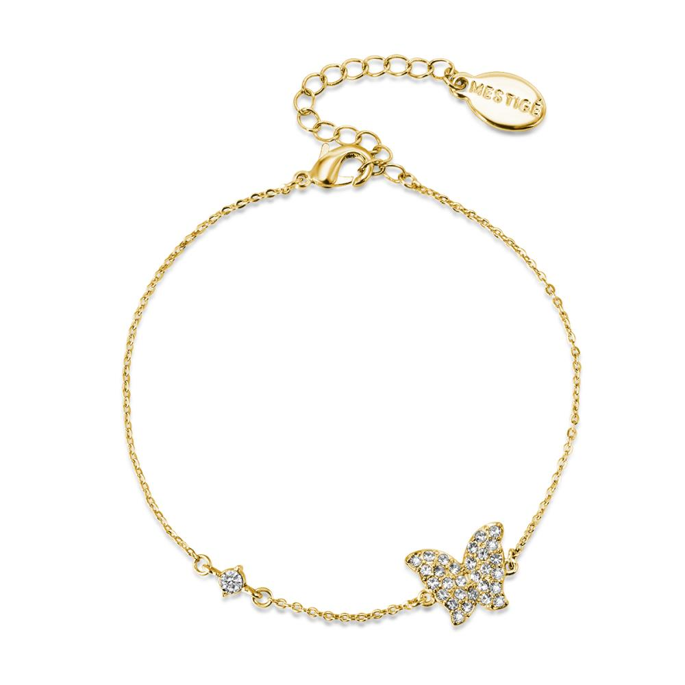 Golden Butterfly Lovers Bracelet