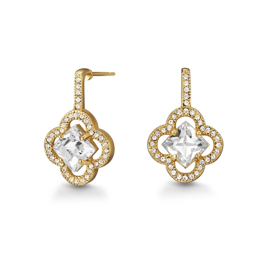 Golden Plum Blossom Earrings