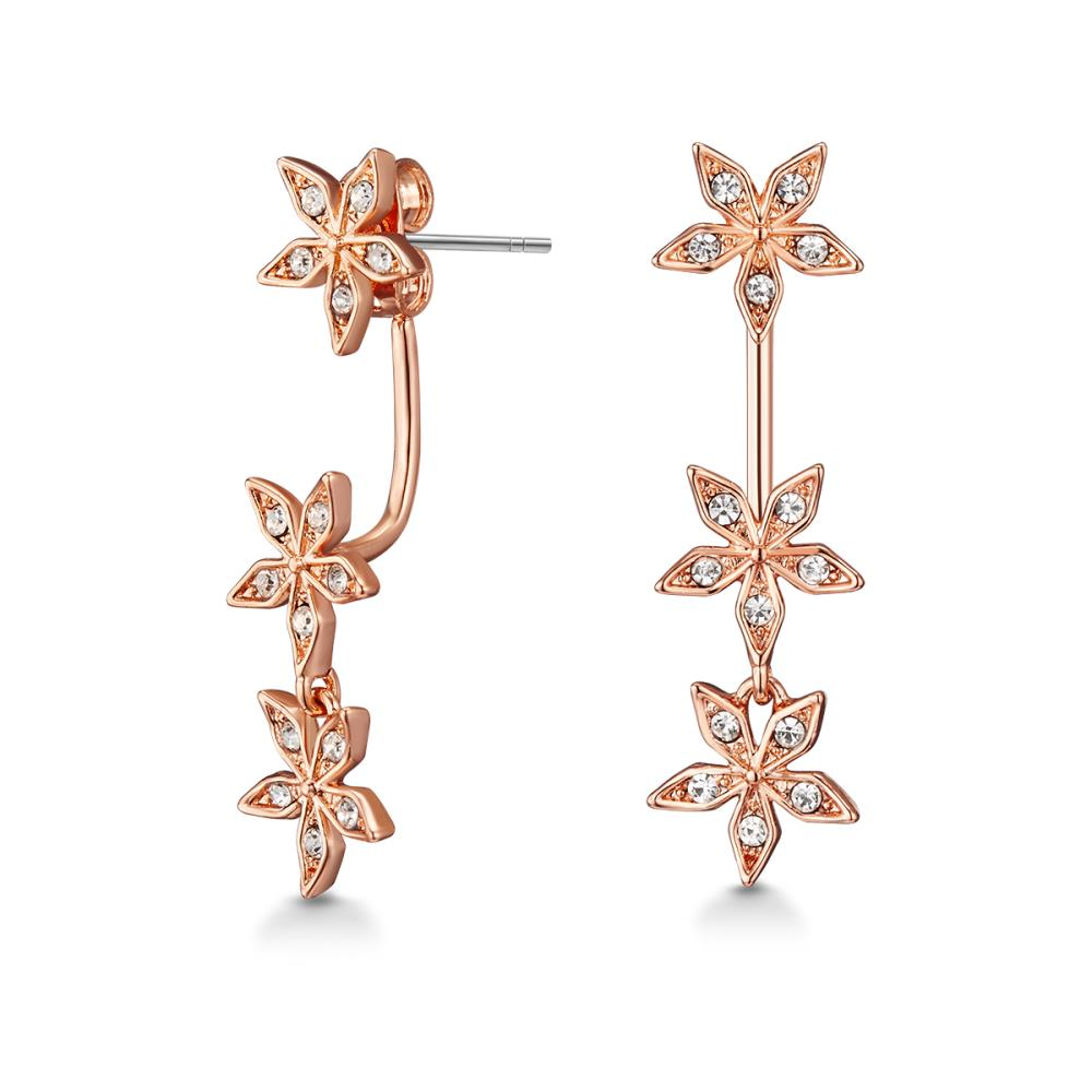 Rose Gold Star Gazer Earrings