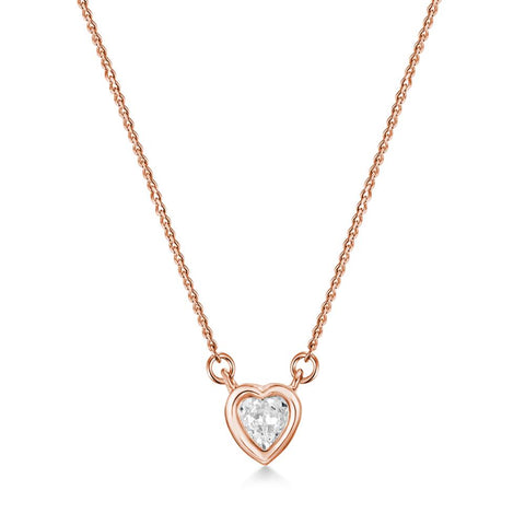 Rose Gold Amour Necklace