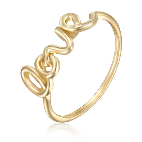 Fine Love Ring In Gold
