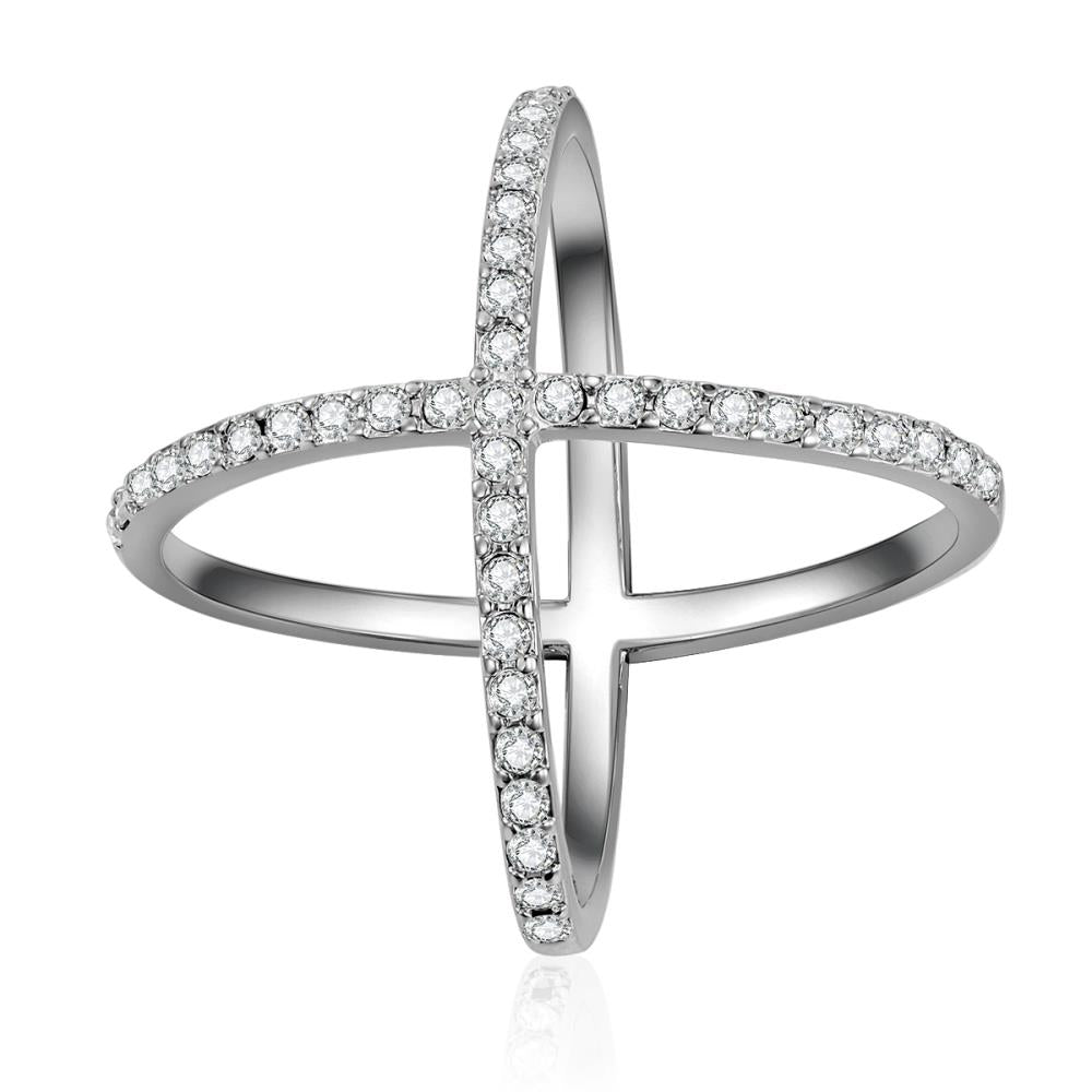 X Marks The Spot Crystal Ring