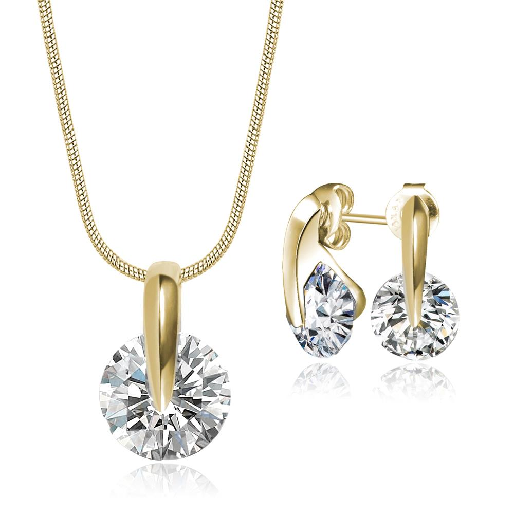 Crystal Zenith Set in Gold