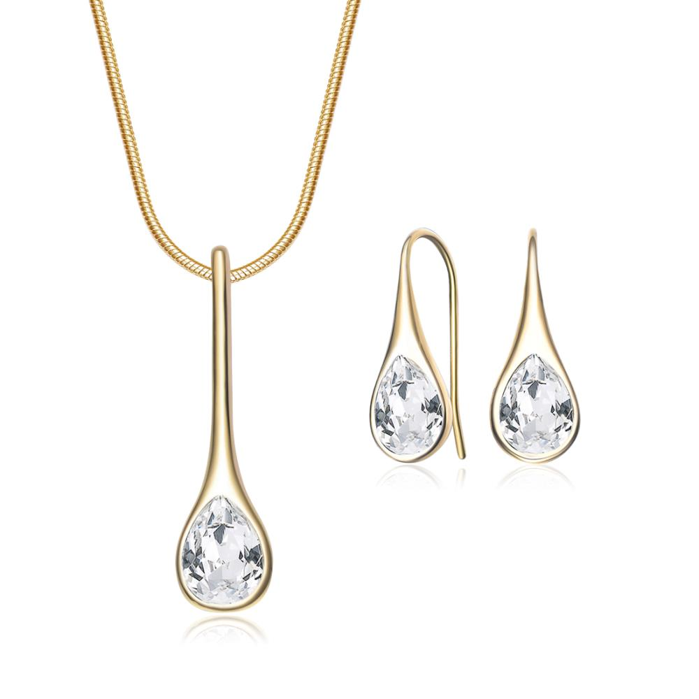 Iris Crystal Set In Gold
