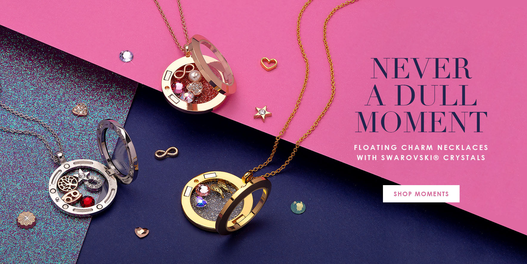 Never A Dull Moment: Shop Floating Charm Necklaces