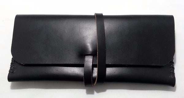 Little Ella Wallet in Black Chromexcel