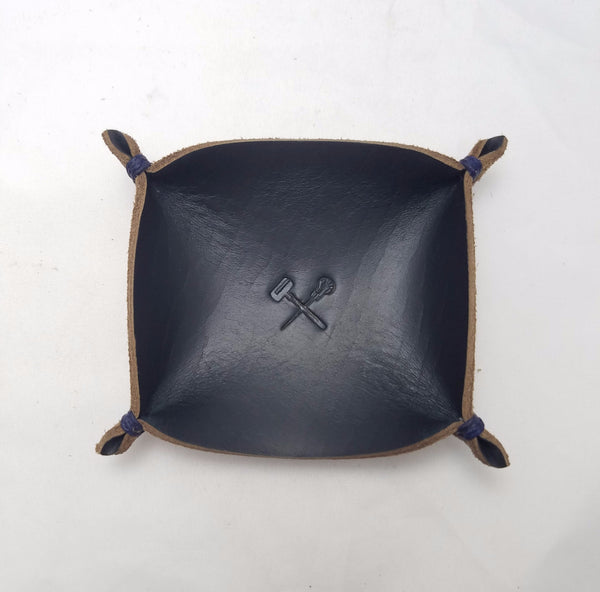 Small Jewelry Tray Navy Chromexcel