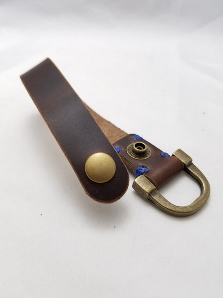 Medium Key Ring Havana Brown Chromexcel