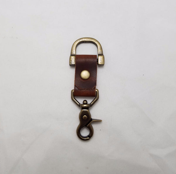 Small Key Clip Soft Brown Dublin