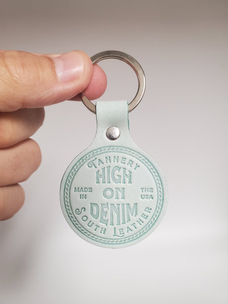 High On Denim Keychain