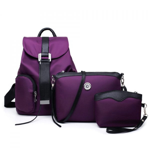 Simple Style Nylon and Stitching Design Women's Satchel