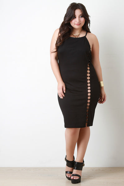 Sleeveless Side Cut Out Midi Dress