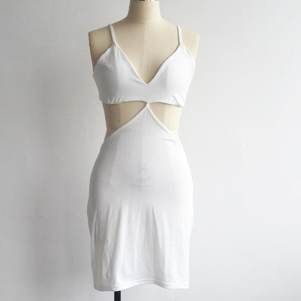 Bra Hollow Out Spaghetti Strap Dress