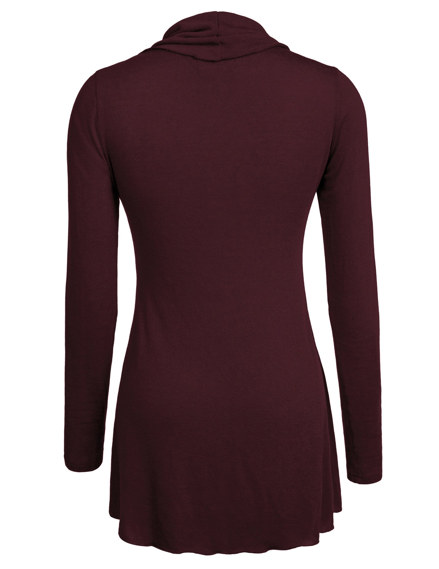 23c54b27d07 Ninedaily Womens Basic Long Sleeve Cowl Neck Solid Flare Tunic Tops for  Leggings Casual Blouse 743140691386