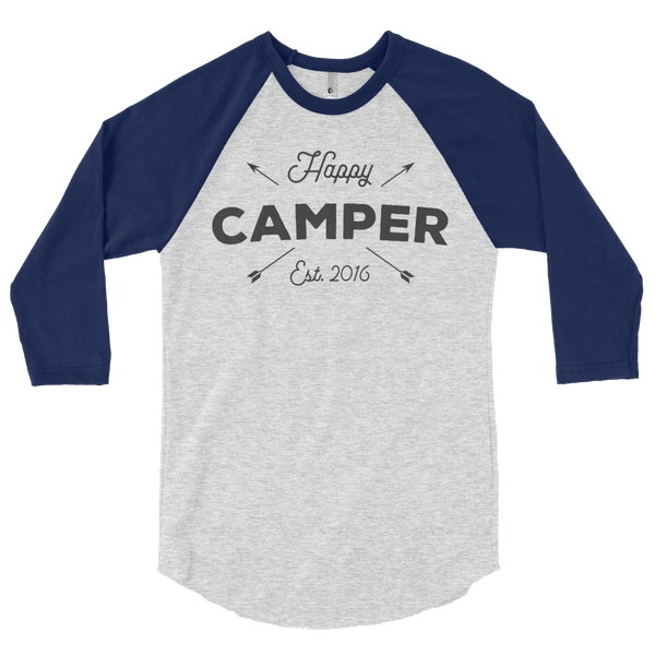 Happy Camper Arrows Baseball T-Shirt