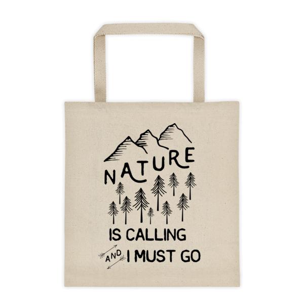 NATURE IS CALLING TOTE BAG // CANVAS - Happy Camper