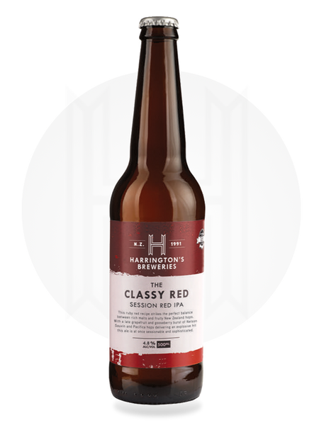 Classy Red Session Red IPA - Harrington's Breweries