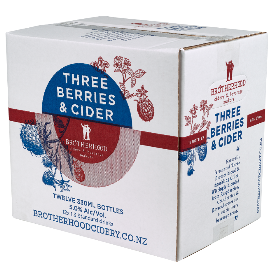 Three Berries & Cider 12 x 330 Bottles - brotherhood cider