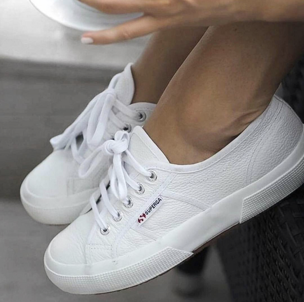 timeless design 385a1 28500 SUPERGA 2750 COTU LEATHER - WHITE (BACK SOON)
