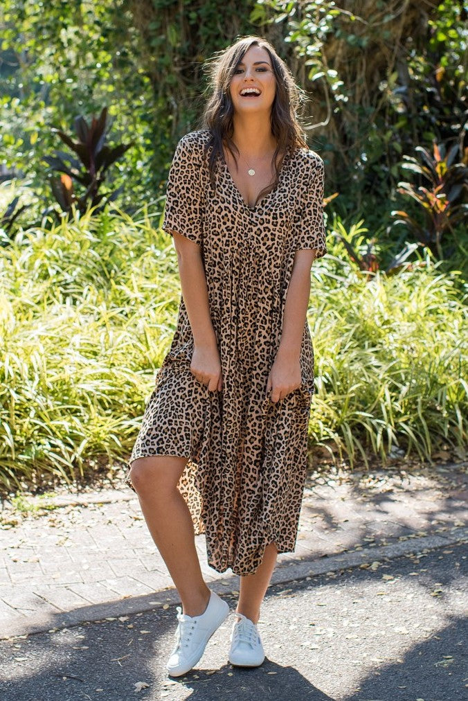 GIA DRESS - LEOPARD
