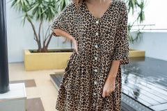 MAYA DRESS - LEOPARD (BACK SOON)