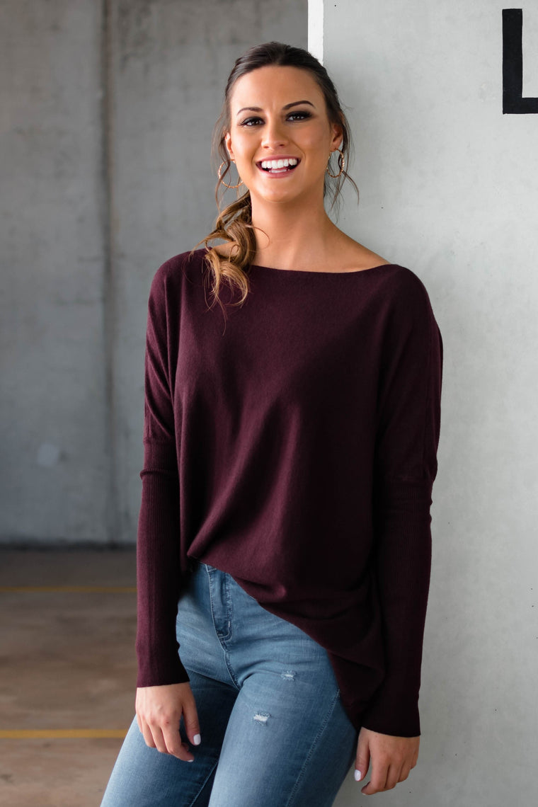 HARPER KNIT - BURGUNDY