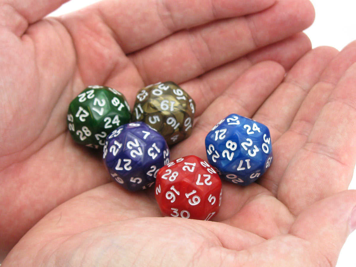 Chessex Pearlescent 30 Sided Dice