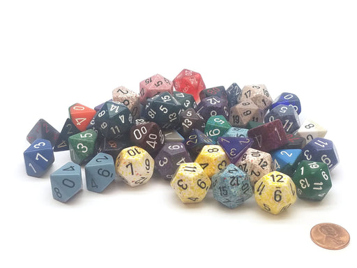 Loose Half Pound (1/2 lb) of Assorted Random Chessex Dice
