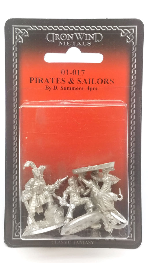 Ral Partha Pirates and Sailors (4 Pieces) #01-017 Unpainted Fantasy Metal Figure