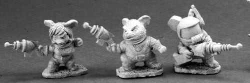 Reaper Miniatures Space Mouslings (3) 01434 Special Edition Unpainted Mini Metal