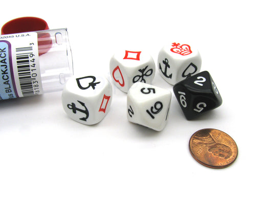 Crown & Anchor Dice Game with 5 Dice Travel Tube and Gaming Instructions